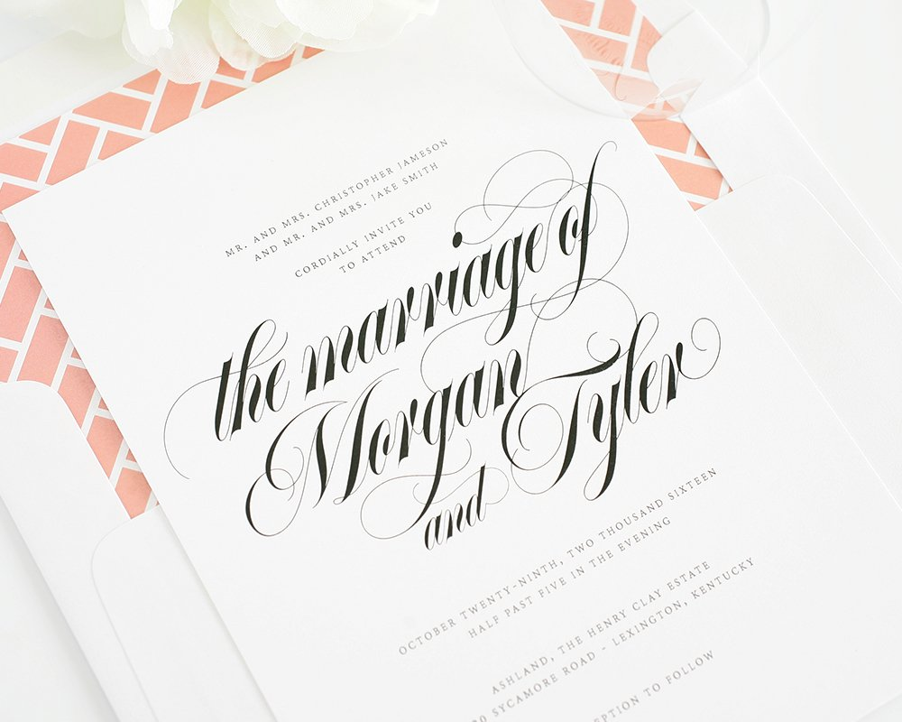 Calligraphy Names Wedding Invitations Wedding