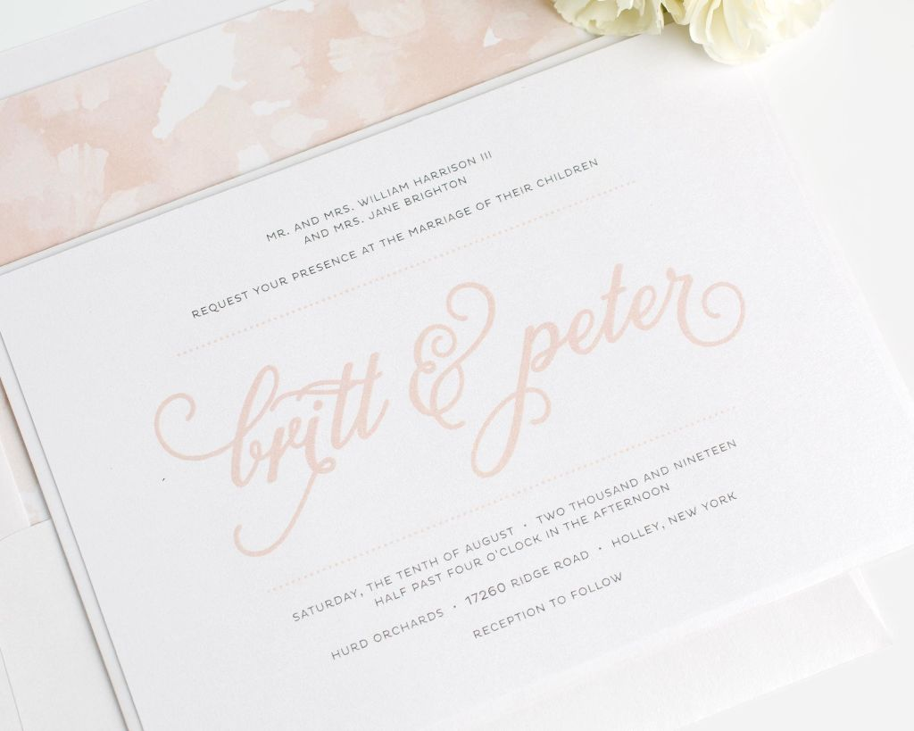 Whimsical Wedding Invitations With Large Names In Purple   Wedding  Invitations By Shine