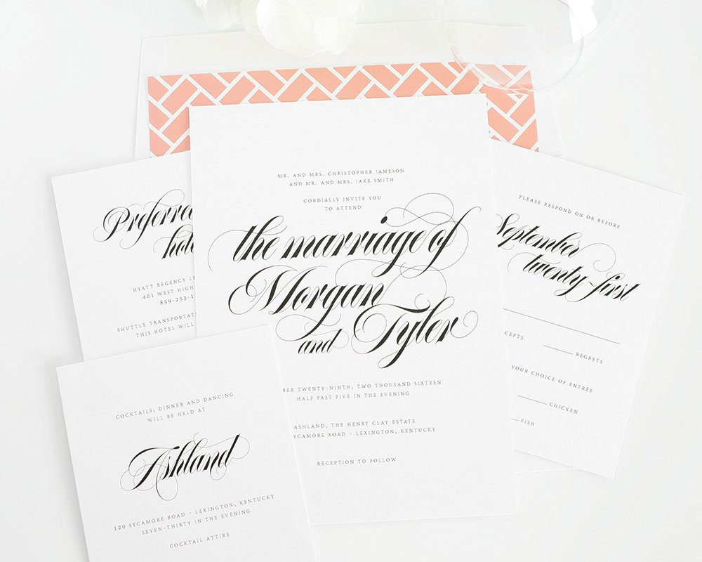 Wedding invitations - elegant and upscale