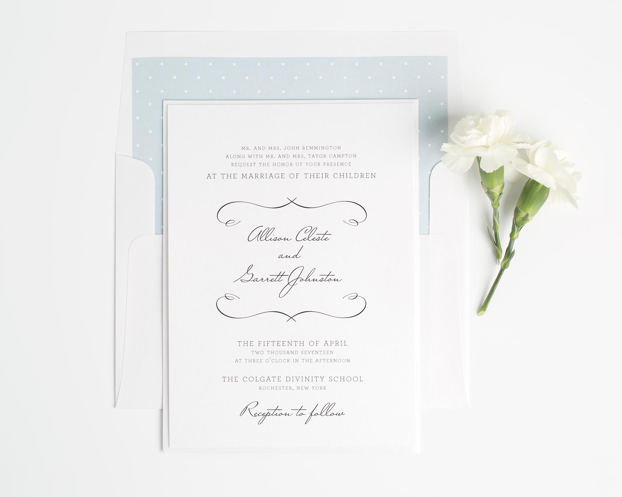 French Country Wedding Invitations In White   Wedding Invitations By Shine