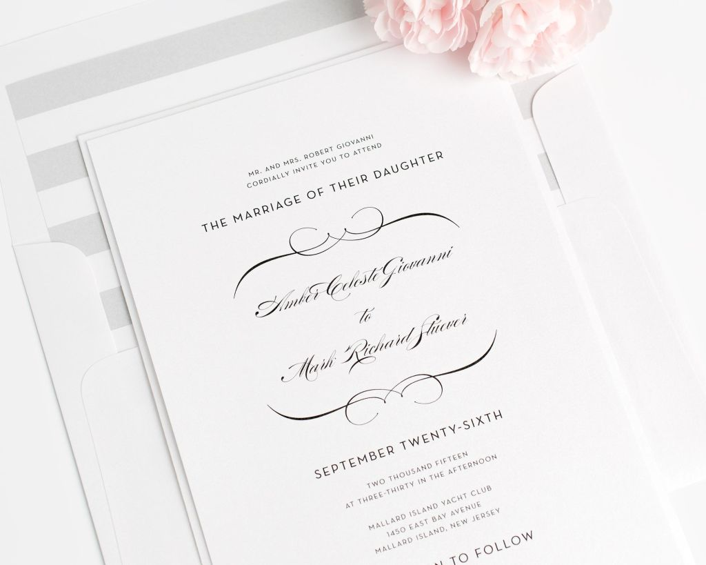 Classic Silver Wedding Invitations