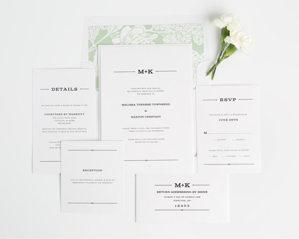 Rustic Monogram Wedding Invitations