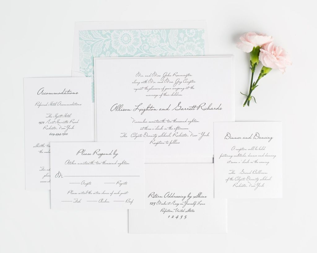schoolhouse script wedding invitations handwritten wedding invitations Vintage Handwritten Wedding Invitations