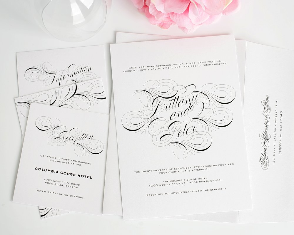 Wedding Invitations with Swirls
