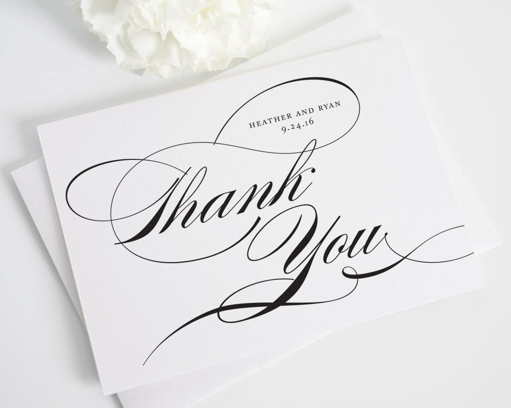 Script wedding thank you cards