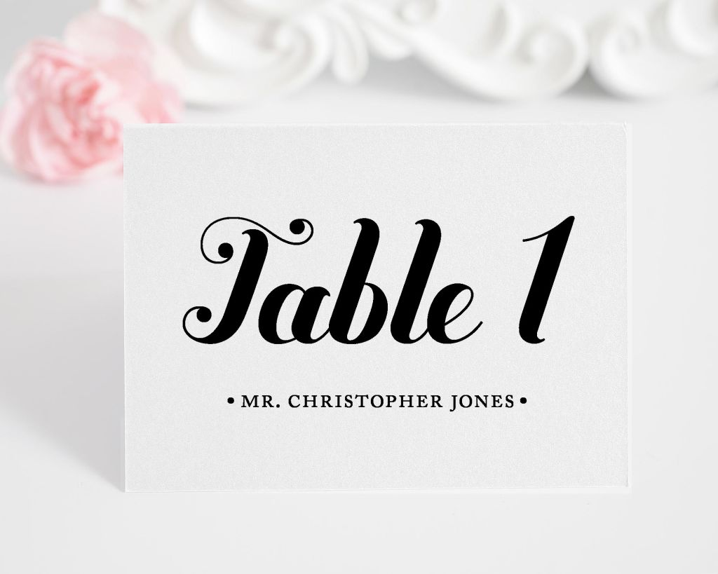 Whimsy and Script Escort Cards