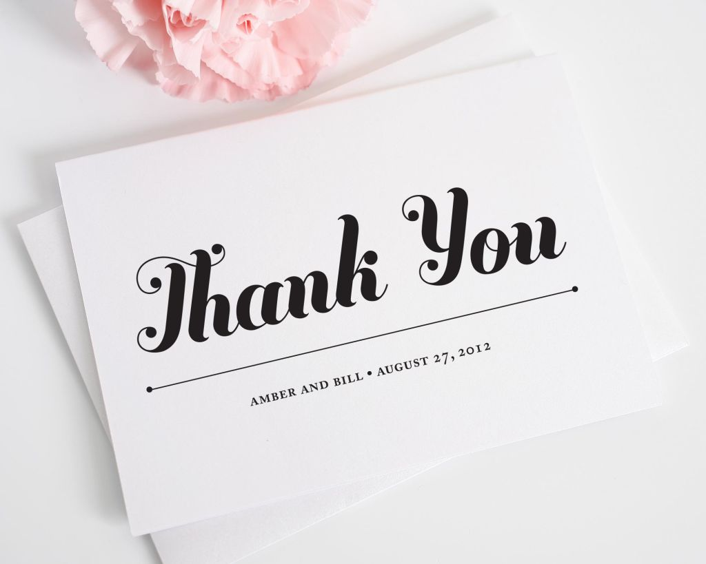 Whimsy and Script Thank You Cards